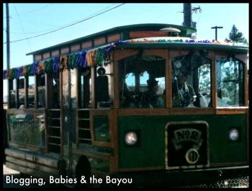 Streetcar in New Orleans - Mardi Gras Parade