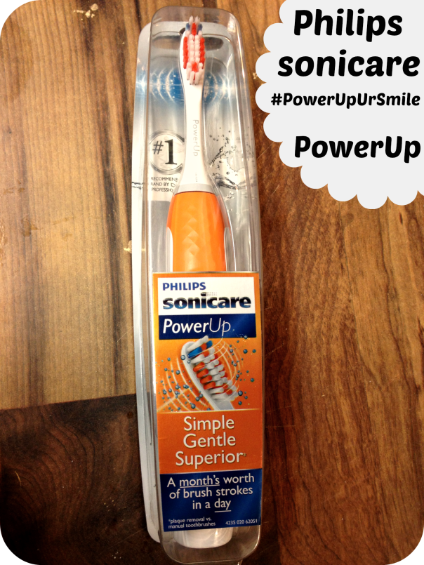 Philips sonicare PowerUp Toothbrush #PowerUpUrSmile