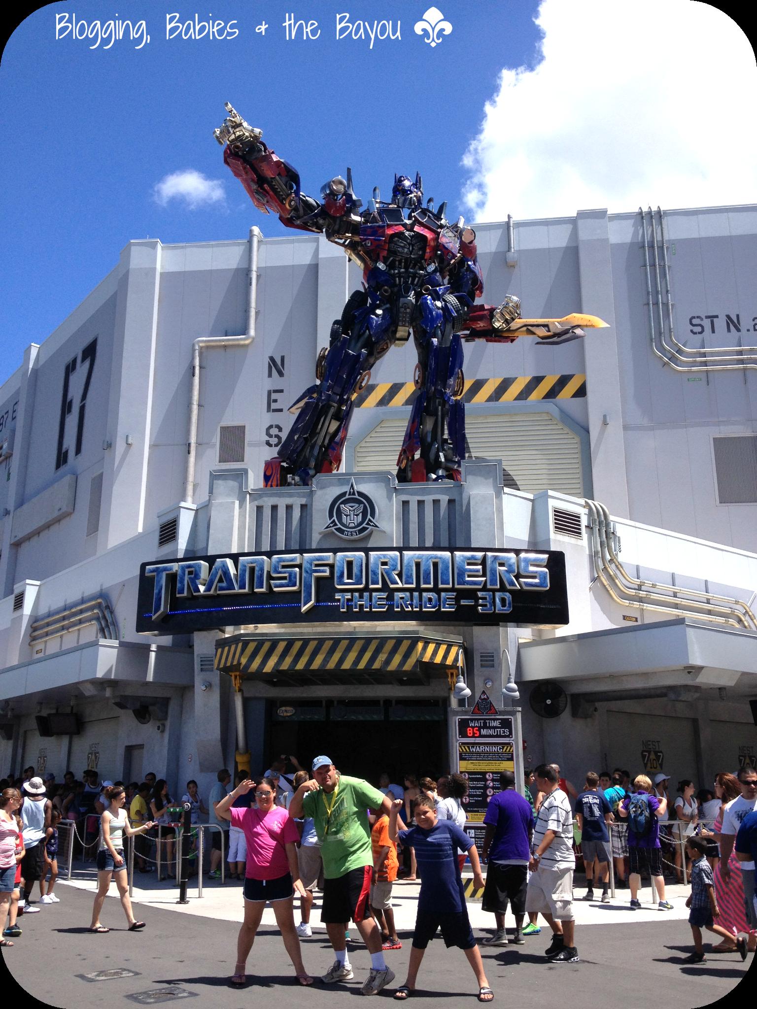 Universals Studios Transformers 3D