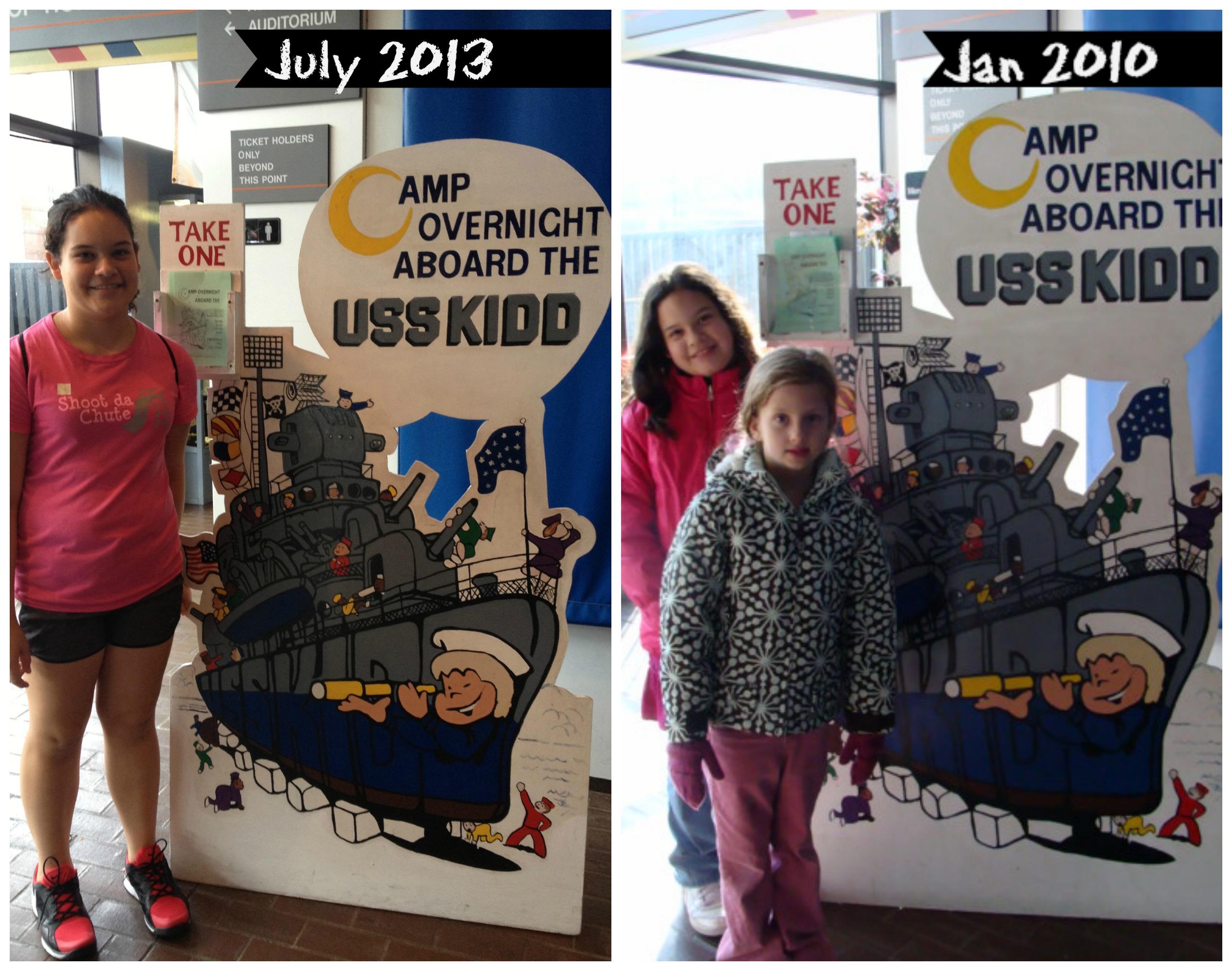 USS KIDD Girl Scouts