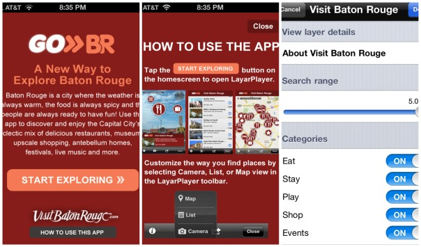 Baton Rouge GoBR Travel App