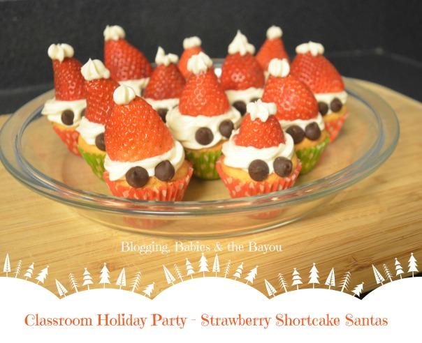 Classroom Holiday Party - Strawberry Shortcake Santa