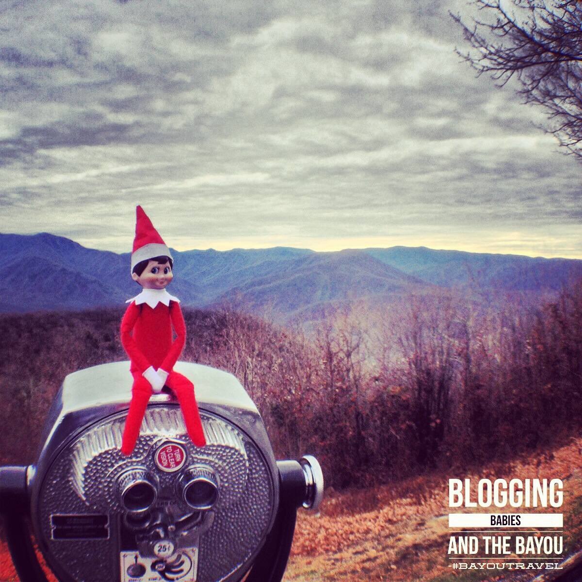 Smoky Mountain Elf on the Shelf Series - Beautiful view of Ober Gatlinburg