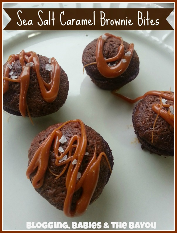 Sea Salt Caramel Brownie Bites