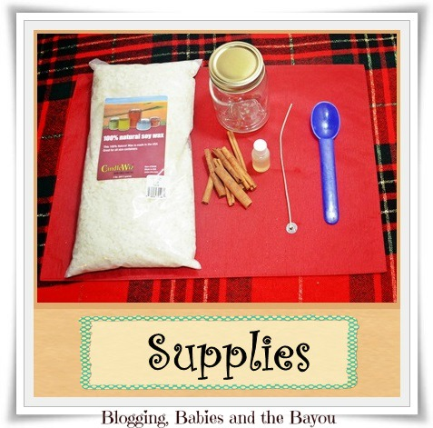 Supplies to make DIY Scented Candles