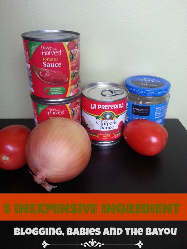 5 Ingredients to make a Chipotle Pasta Sauce